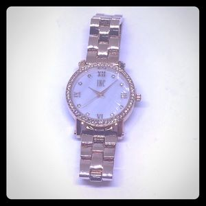 INC International Concepts Accessories - INC Rose Gold Crystal Bracelet Watch [JW-28]